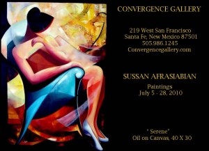 Sussan Afrasiabian Art Show Santa Fe New Mexico