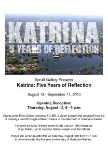Art Opening New Orleans: Katrina Five Years of Reflection
