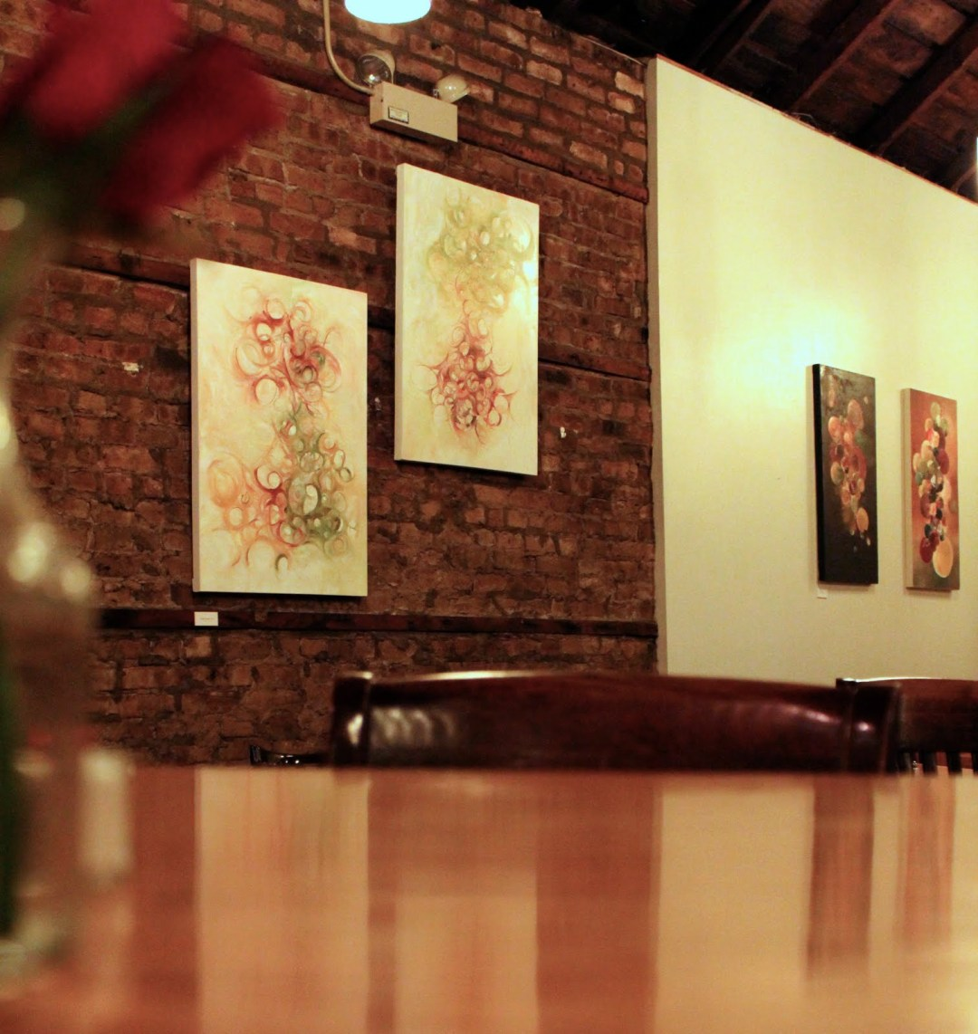 Claudia Smalley is the featured artist at Chicago's Jane's Restaurant in Bucktown.