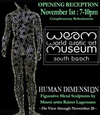 Rainer Lagemann at the Weam World Erotic Art Museum South Beach Florida