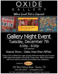 Oxide Gallery Denton Texas Gallery Night – Tuesday, December 7th