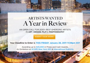 Artists Wanted: A Year In Review is Searching for 2010's Best Emerging Talent in Art, Design, Photography + Video
