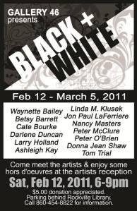 GALLERY 46 Black and White Show Rockville Connecticut