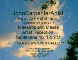 Art Show John Carpenter Dallas Texas