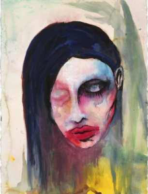 Marilyn Manson Artwork Watercolour Paintings