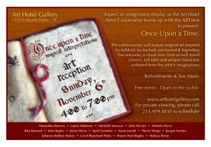 Once Upon a Time Art Hotel and Gallery Art Show Dallas